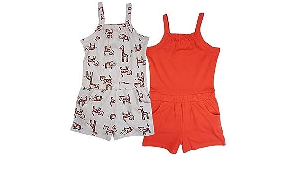 Get Wivvit Girls Baby Toddler Pink Cotton Summer Romper Shorts Playsuit Sizes from Newborn to 36 Months