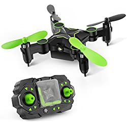 Gizmovine 901H Mini Drone de Bolsillo Gyro Plegable de 6 Ejes 2.4 GHZ Con Funciones de Rollo 3D Modo sin Cabeza Mantenimiento de Altitud Retorno Automático