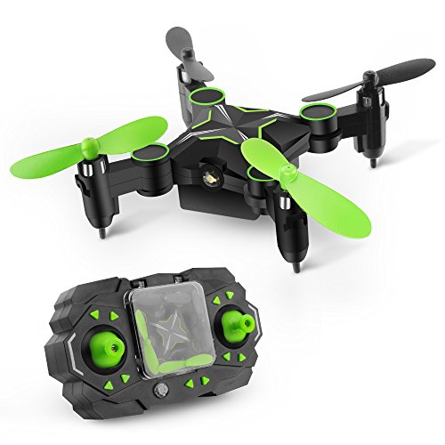 GizmoVine 901H Foldable Mini Drone 2.4GHZ 6-Axis Remote Control Aircraft 3D Rolling Altitude Hold Headless One Key Return RC Quadcopter (Without Camera)