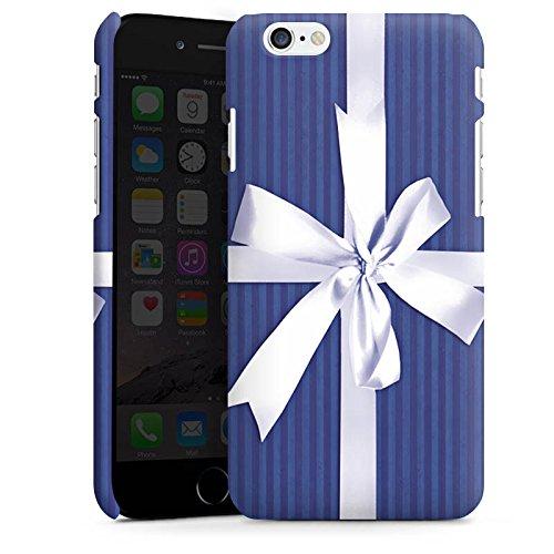 Apple iPhone X Silikon Hülle Case Schutzhülle Geschenk Schleife Blau Premium Case matt