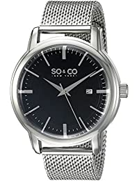 SO & CO New York 5207.2 - Reloj de cuarzo para hombres, plateado