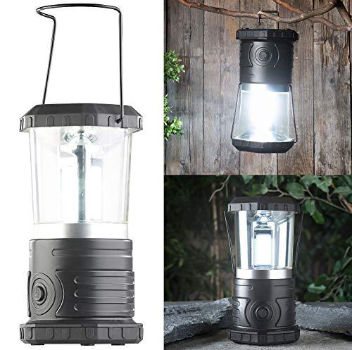 Lunartec Campinglampe Batterie: Dimmbare Camping-Laterne mit COB-LEDs, 750 Lumen, 9 Watt, IP44 (Camping-Beleuchtung)