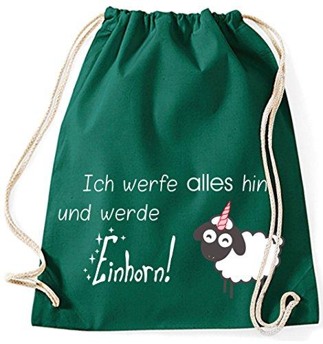 Il Mio Zwergenland Jutebeutel Butto Tutto E Diventa Unicorno, 12l, Verde Lime-verde