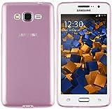mumbi UltraSlim Hülle für Samsung Galaxy Grand Prime Schutzhülle transparent rosa (Ultra Slim - 0.55 mm)