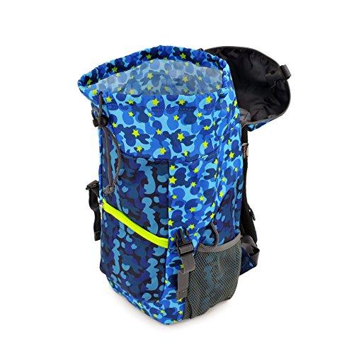 Hugger Borsa escursioni per bambini / Hugger Children's Hiking Bag (banana e denaro / banana apes) camuffamento blu / blue star camouflage