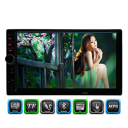 KKmoon Universal 7 Zoll 2 Din Auto-Stereoanlage UKW-Radio MP5 Player Mit HD Touch-Screen Unterstützt Bluetooth USB/TF AUX-Eingang