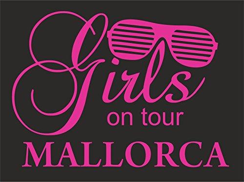 Damen/Frauen Party T-Shirt Motiv Girls on Tour MALLORCA Schwarz