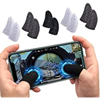 WOWMOB Pro Pubg Anti-Slip Thumb Sleeve, Slip-Proof Sweat-Proof Professional Touch Screen Thumbs Finger Sleeve for Pubg…