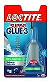 Loctite Super Glue-3 gel control, adhesivo universal instantáneo antigoteo, 3gr
