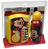 MICKEY - Set cantimplora de aluminio y sandwichera PVC de Mickey Mouse