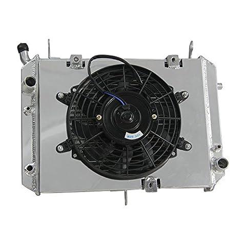 ALLOYWORKS Aluminum Radiator Shroud Fan For Yamaha FJR1300 2001-2005 (9 Inches Dia. Fan)