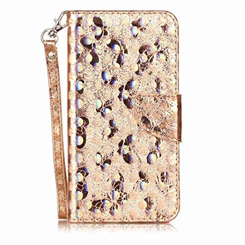 Preisvergleich Produktbild Nancen Wallet Case Hülle für Huawei P10 Plus (5,5 Zoll) ,Schmetterling Muster Flip Funktion Kartenfächer Magnet Etui Huawei P10 Plus (5,5 Zoll)