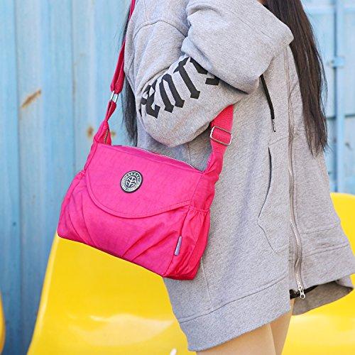 Outreo Umhängetasche Mode Reisetasche Leichter Messenger Bag Lässige Kuriertasche Damen Taschen Wasserdicht Schultertasche Mädchen Sporttasche Beige