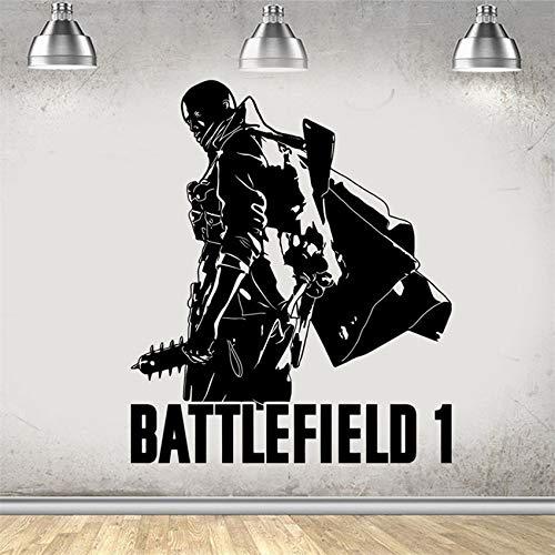 keletop Battlefield 1 Gaming Xbox PS4 Spiel Wandkunst Aufkleber Kunst Aufkleber Jungen Mädchen Wohnzimmer Schlafzimmer Poster 58 * 69cm