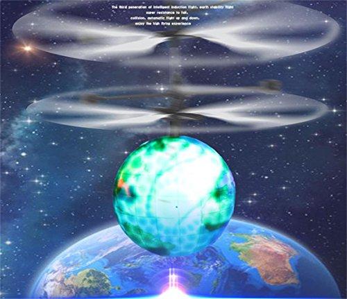 Miduxian Flying Ball, Kinder fliegen Spielzeug, Mini RC Infrarot Hubschrauber Ball eingebaute Shinning LED Beleuchtung für Kinder, Jugendliche bunte Flyings für Kinder Spielzeug(Erde)