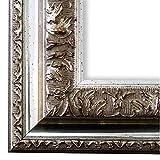 Online Galerie Bingold Bilderrahmen Silber 80x120-80 x 120 cm - Antik, Barock, Shabby - Alle Größen - Handgefertigt in Deutschland - LR - Rom 6,5