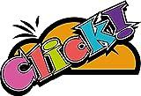Click Speech Bubble Comic Book De Haute Qualite Pare-Chocs Automobiles Autocollant 12 x 8 cm