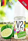 V2 Vape Limette AROMA/KONZENTRAT hochdosiertes Premium Lebensmittel-Aroma zum selber mischen von E-Liquid/Liquid-Base für E-Zigarette und E-Shisha 10ml 0mg nikotinfrei