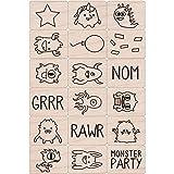 """Hero Arts Ink 'n Stamp Tub 3""""X4""""-Monster"""