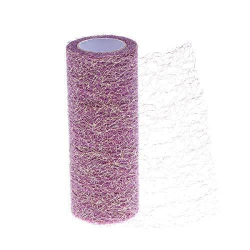 Healifty Tüll Rollenspule Tüll Stoff Rolle für Hochzeit Tisch Tutu Kleid Rock Dekorationen 15 cm 10 Yards (lila) -