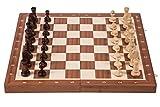 SQUARE GAME Pro Schach Nr 6 Mahagoni - Schachspiel aus Holz - Schachbrett & Staunton 6