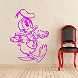 yaoxingfu Duck Fai da Te Adesivo murale Cartoni Animati Mouse Decalcomania del Vinile Interno di casa Bambini Ragazza Ragazzo Camera Nursery Art Decoration PVC murale WW-5 115x85cm