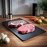 Aluminium Hot Fast Defrost tablet Tray Kitchen Der sicherste Weg zum Auftauen von Fleisch oder Tiefkühlkost