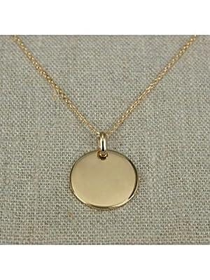 Sautoir avec pendentif médaille en plaqué Or ou Argent 925, sautoir cercle - médaillon
