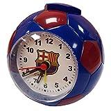 FCB FC Barcelona - Reloj despertador (9 x 9cm) (Azul/Rojo)