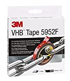 3M VHB 5952 Adhesive Tape / Simple permanent bonding with double coated tape, filmic liner, 19 mm x 3 m, black - 1x roll of tape
