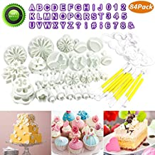 Buluri 84 Piezas Fondant Cortadores - Bricolaje Fondant Cake Decorating Sugarcraft Tools Kits - Para Decorar