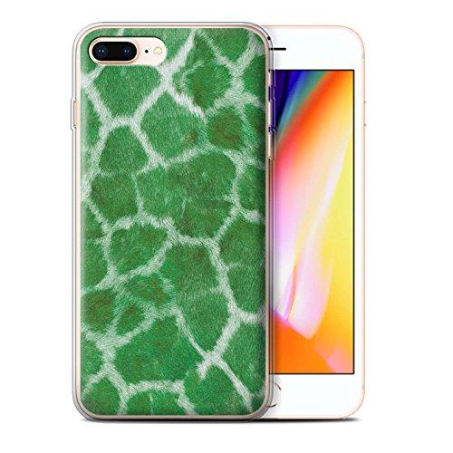 Stuff4 Gel TPU Hülle / Case für Apple iPhone 8 Plus / Pack 5pcs / Giraffe Tier Haut/Print Kollektion Grün