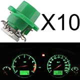 GrandView 10 Pack Car T5 B8.4 5050 1SMD Green LED Lamps For Dashboard