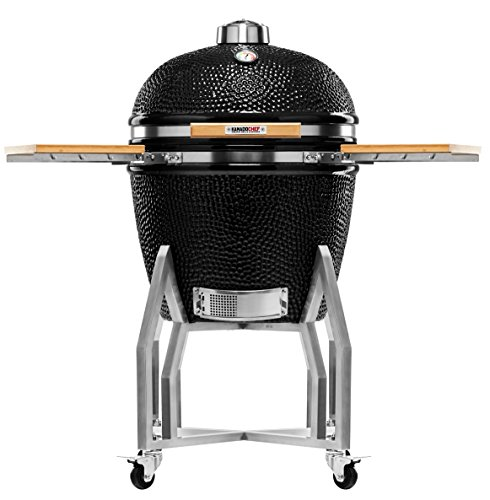 Kamado Chef 2200 Prestige Diamond Black ceramic barbecue grill and smoker for searing, roasting, smoking � The Extraordinary Cooking Experience