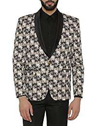Wintage Men's Imported Rayon Tailored Fit Solid Evening / Casual Blazer Coat Printed Tuxedo Jacket