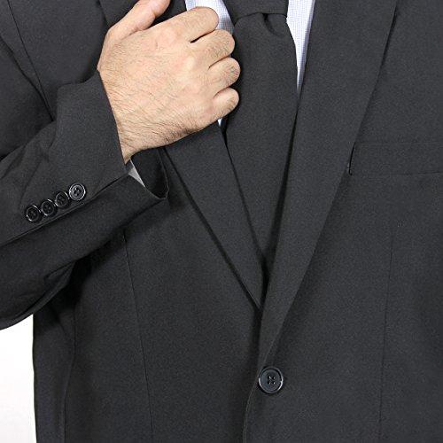 Modisch Herren Party Anzug Weihnachten Kostüme Festliche Anzüge Party Suits in Normalem Schnitt von YOU LOOK UGLY TODAY Schwarz