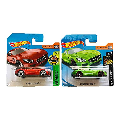 Hot Wheels '15 Mercedes AMG GT HW Exotics & Nigthburnerz Pack 2