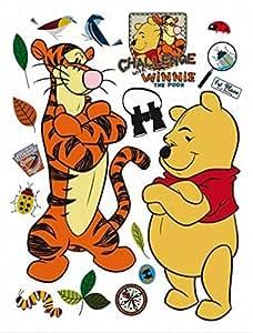 Winnie The Pooh Poster-Sticker Wall-Tattoo - Winnie And Tigger, Challenge (34 x 26 inches)