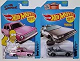 Hot Wheels Simpsons Family Car and Back To Future Delorean Hover Mode by Hot Wheels