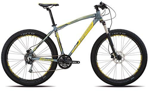 Legnano bicicletta 920 duran 27,5'' plus 3x7v taglia 48 alu grigio (MTB Ammortizzate) / bicycle 920 duran 27,5'' plus 3x7s size 48 alu grey (MTB Front suspension)