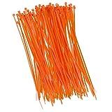 100 unidades abrazaderas de cable 200 mm x 2,5 mm para red de sombreado, panel de cerca, valla en naranja.