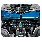 Cockpit Avion/avion Cockpit Housse en tissu Rectangle Tapis de souris 25x 20cm...