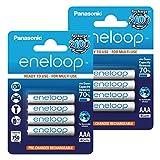 Panasonic Eneloop AAA BK-4MCCE vorgeladen, sehr geringe Selbstentladung LSD Akkubatterie 2100 Zyklen, 8er Pack