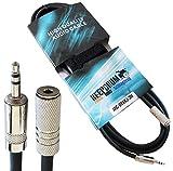 KEEPDRUM MC-099XJ 3m Verlängerungskabel 3,5mm Stereo Mini-Klinke M/F Kopfhörer Verlängerung + Klett-Kabelbinder