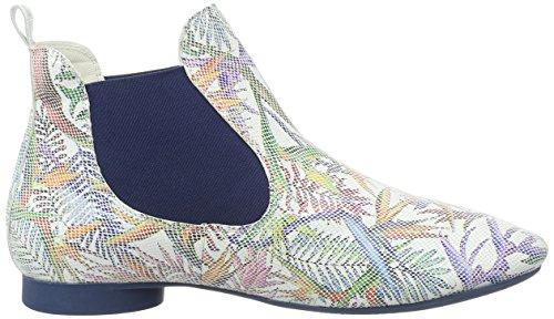 Pensare! Damen Guad Chelsea Boots Mehrfarbig (bianco / Kombi 97)