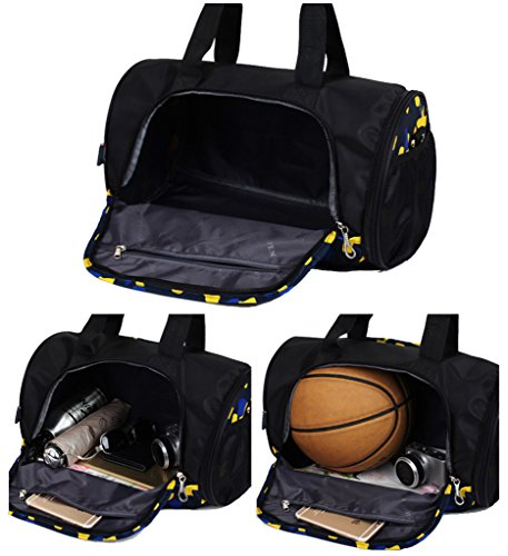 Super Modern Nylon Sportliche Gear Bag Reisetasche Gym Multifunktions-Messenger Duffel Tasche mit Schuhfach rot - rose