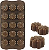 SILICONE CHOCOLATE MOULD TRAY ROUND ICING SUGAR CRAFT CAKE JELLY BAKING ICE*FLOWER* Fusion (TM)