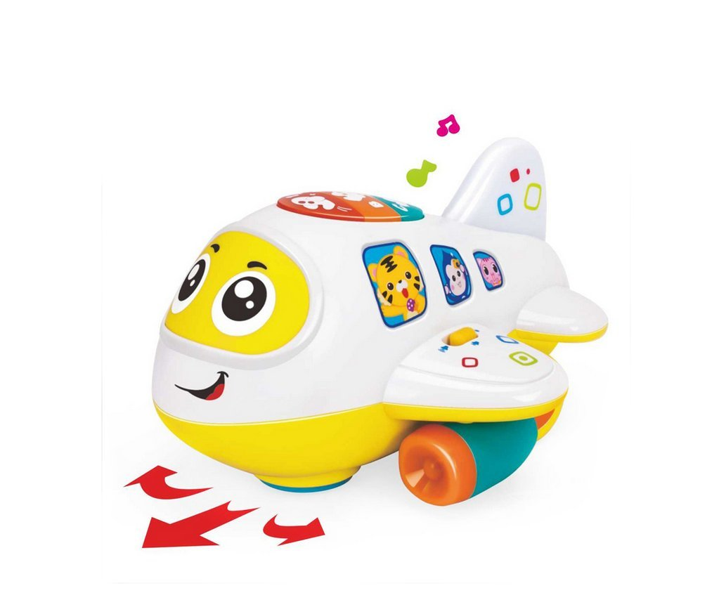 My First Airplane 12 Month + Baby Toy Intelligence Airplane Toy Music/Light/Sound for Children & Kids Boys and Girls 2