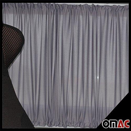 Preisvergleich Produktbild Sonnenschutzgardine MAß GARDINEN VORHÄNGE SPRINTER W906 - CRAFTER Langer Grau