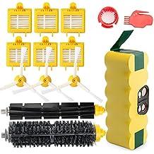 efluky 3.5Ah batería de repuesto para irobot roomba + Kit cepillos repuestos de Accesorios para iRobot Roomba Serie 700 720 750 760 770 772e 776 776p 780  782e 786 786p 790 - un conjunto de 14